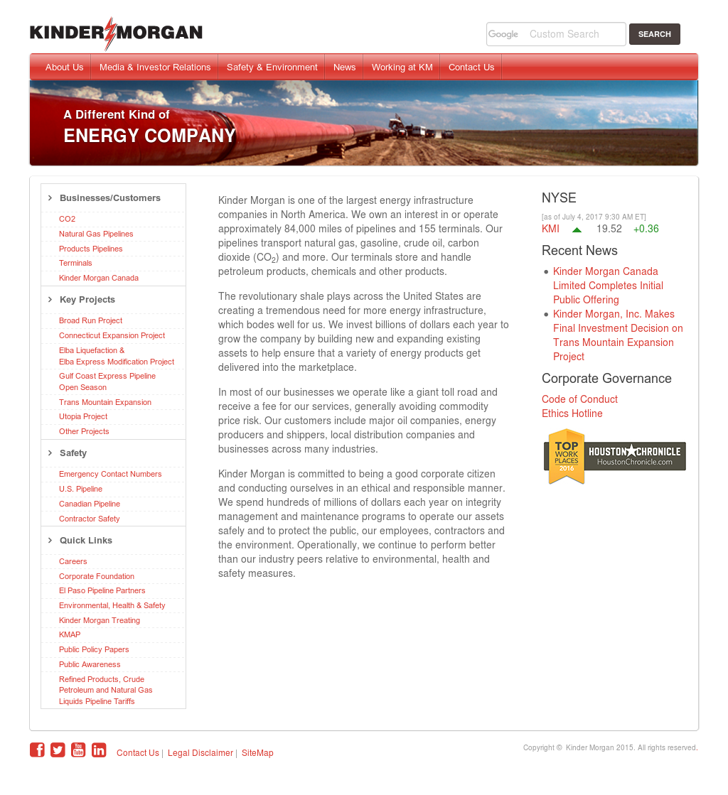 Kinder Morgan Competitors Revenue And Employees Owler Company Profile