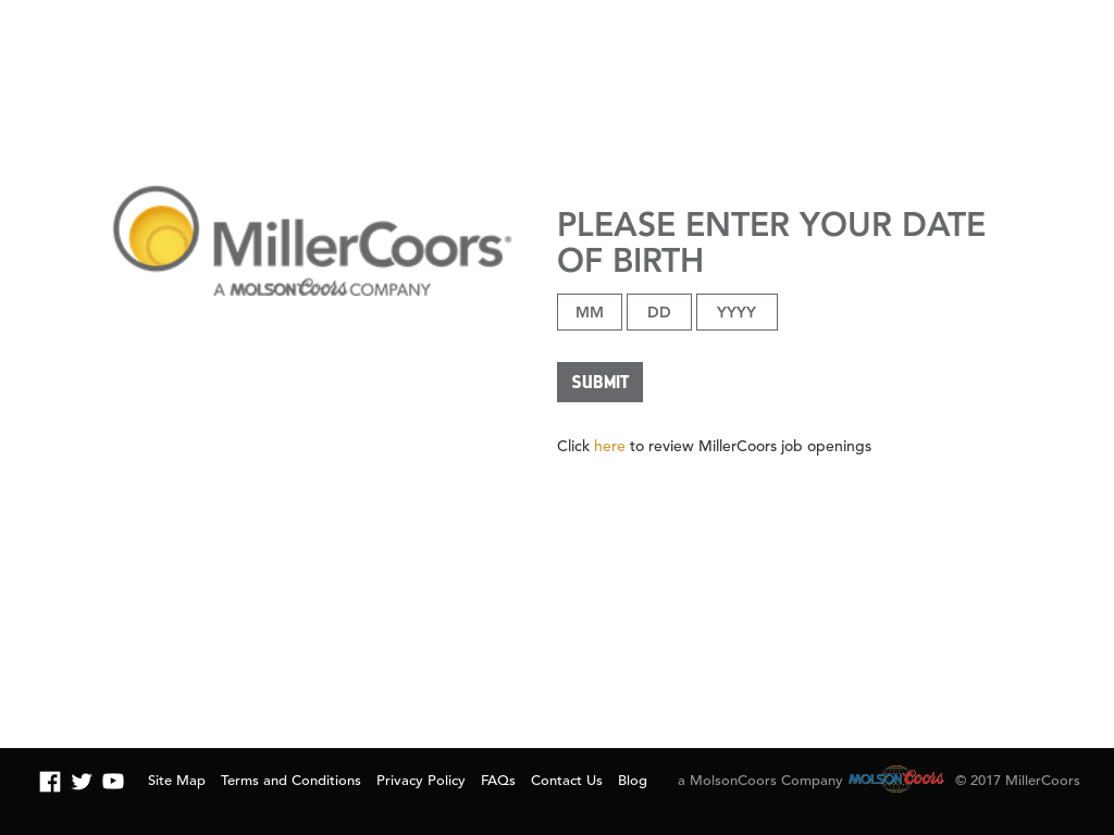 MillerCoors Website History