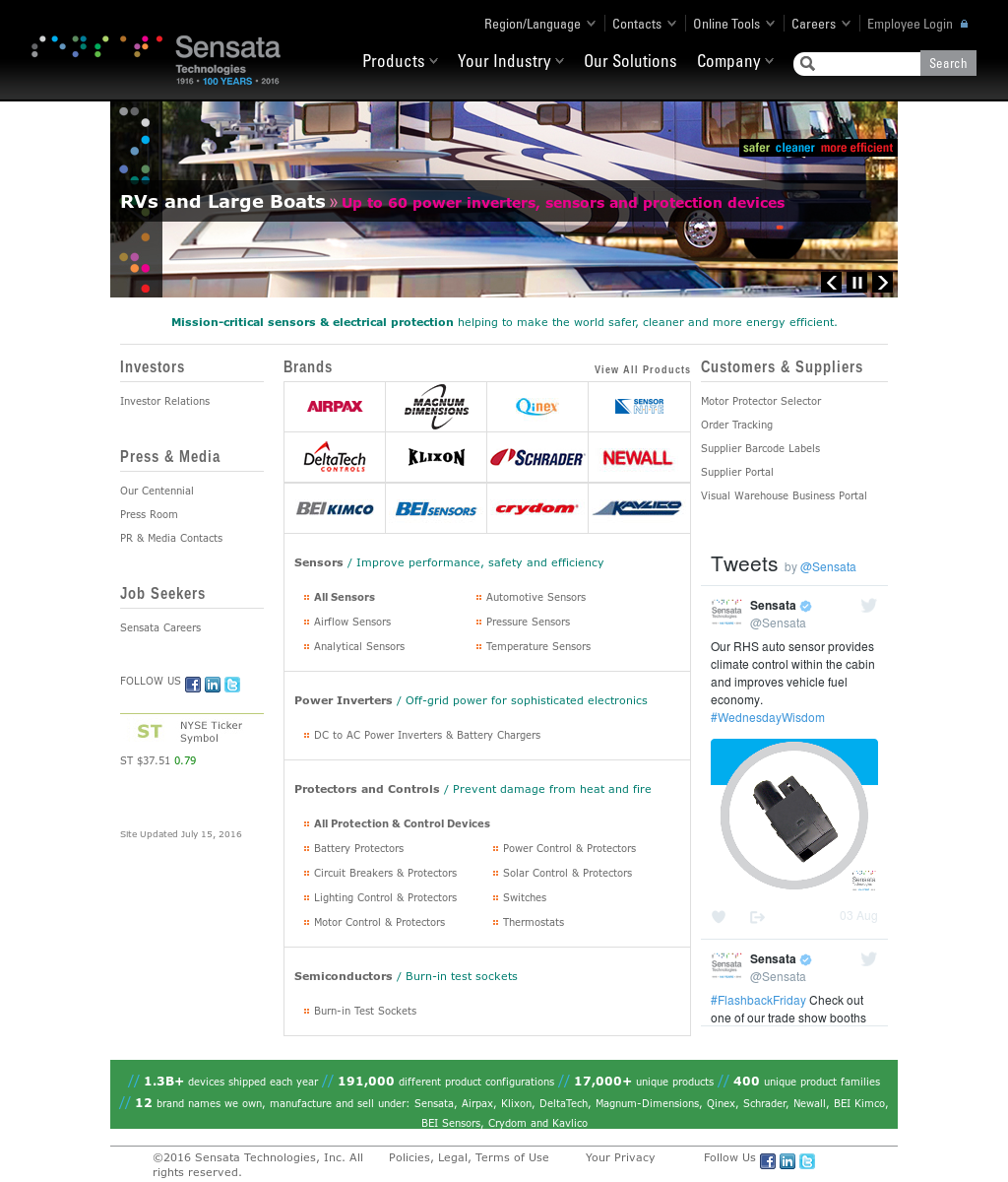 Sensata Competitors Revenue And Employees Owler Company Profile Power Inverter Installation Magnum Dimensions