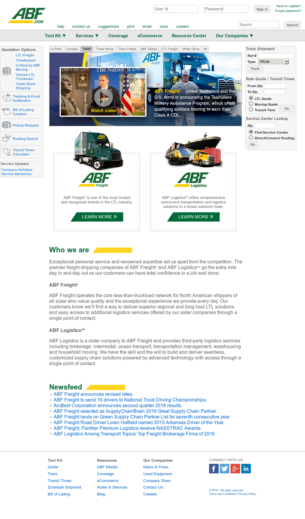 ABF Freight System Competitors, Revenue and Employees