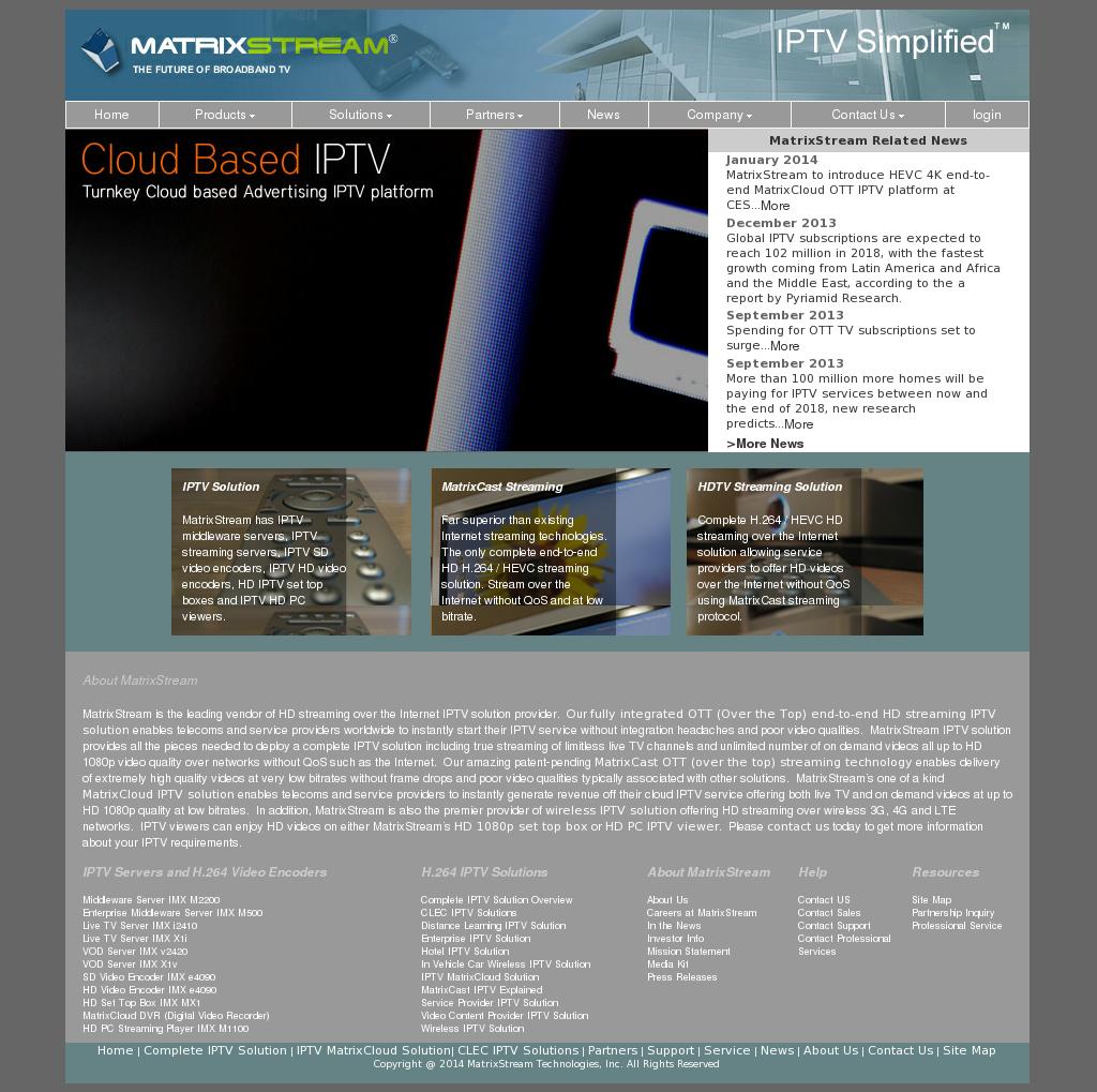 MatrixStream Technologies Competitors, Revenue and Employees