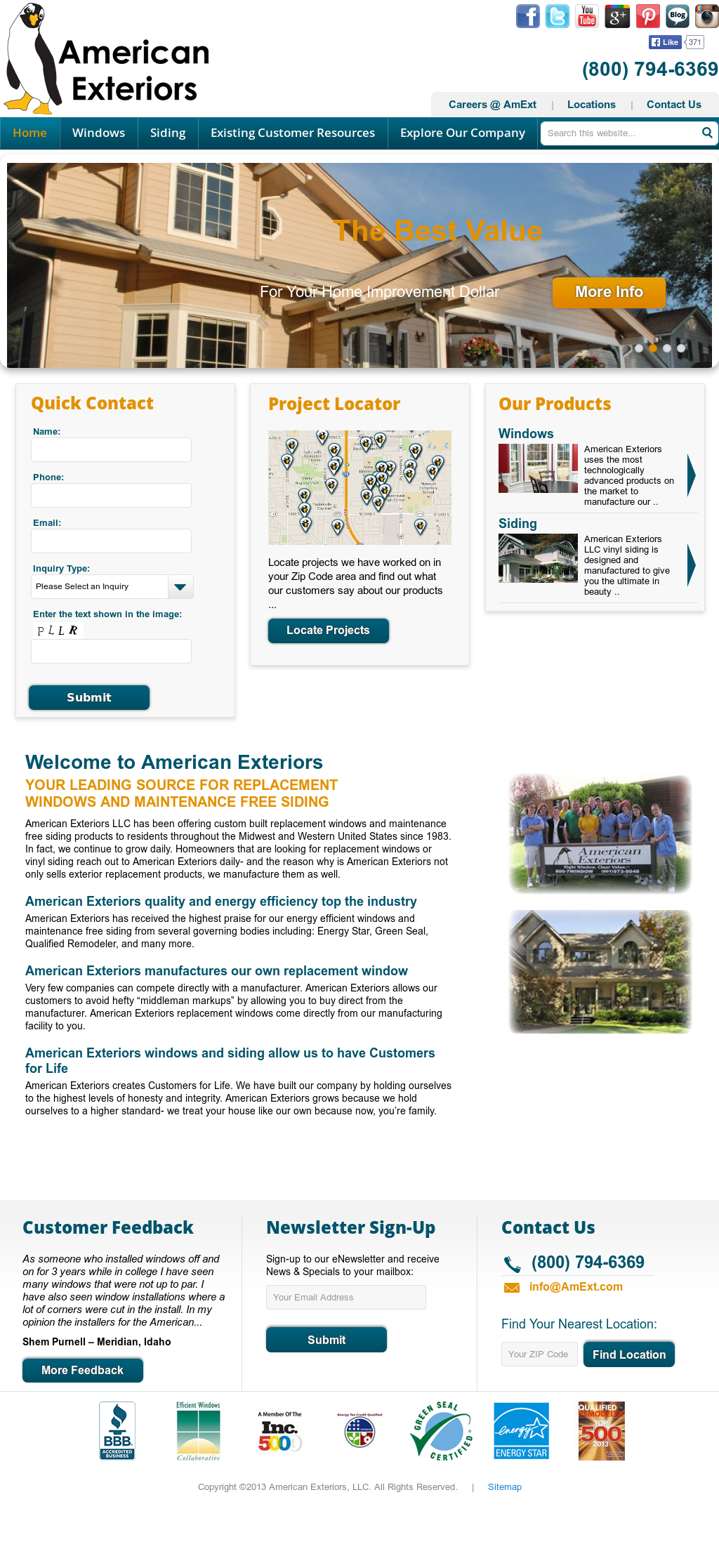 American Exteriors Competitors, Revenue and Employees - Owler ...