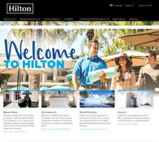 Hilton website history