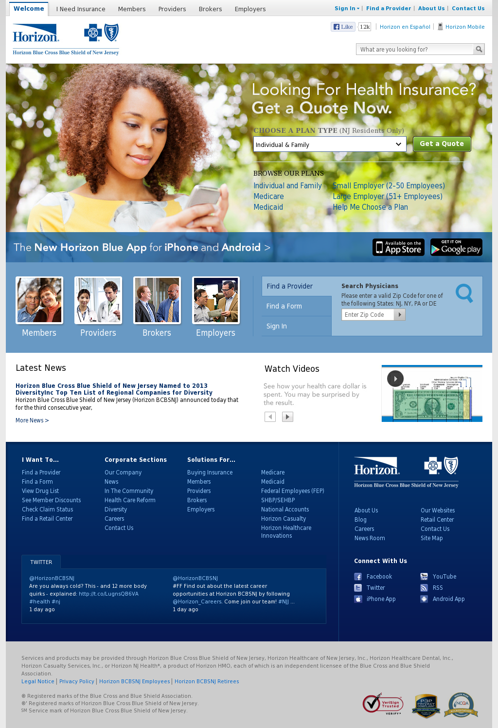 Horizon BCBSNJ Competitors, Revenue and Employees - Owler Company