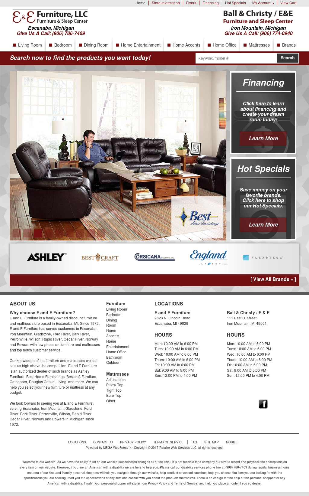 Charmant E U0026 E Furniture Website History