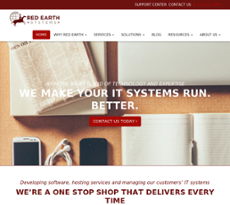 Red Earth website history