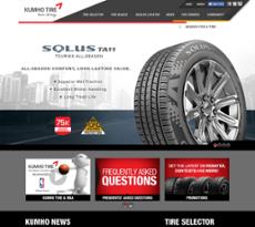 Kumho Tire website history
