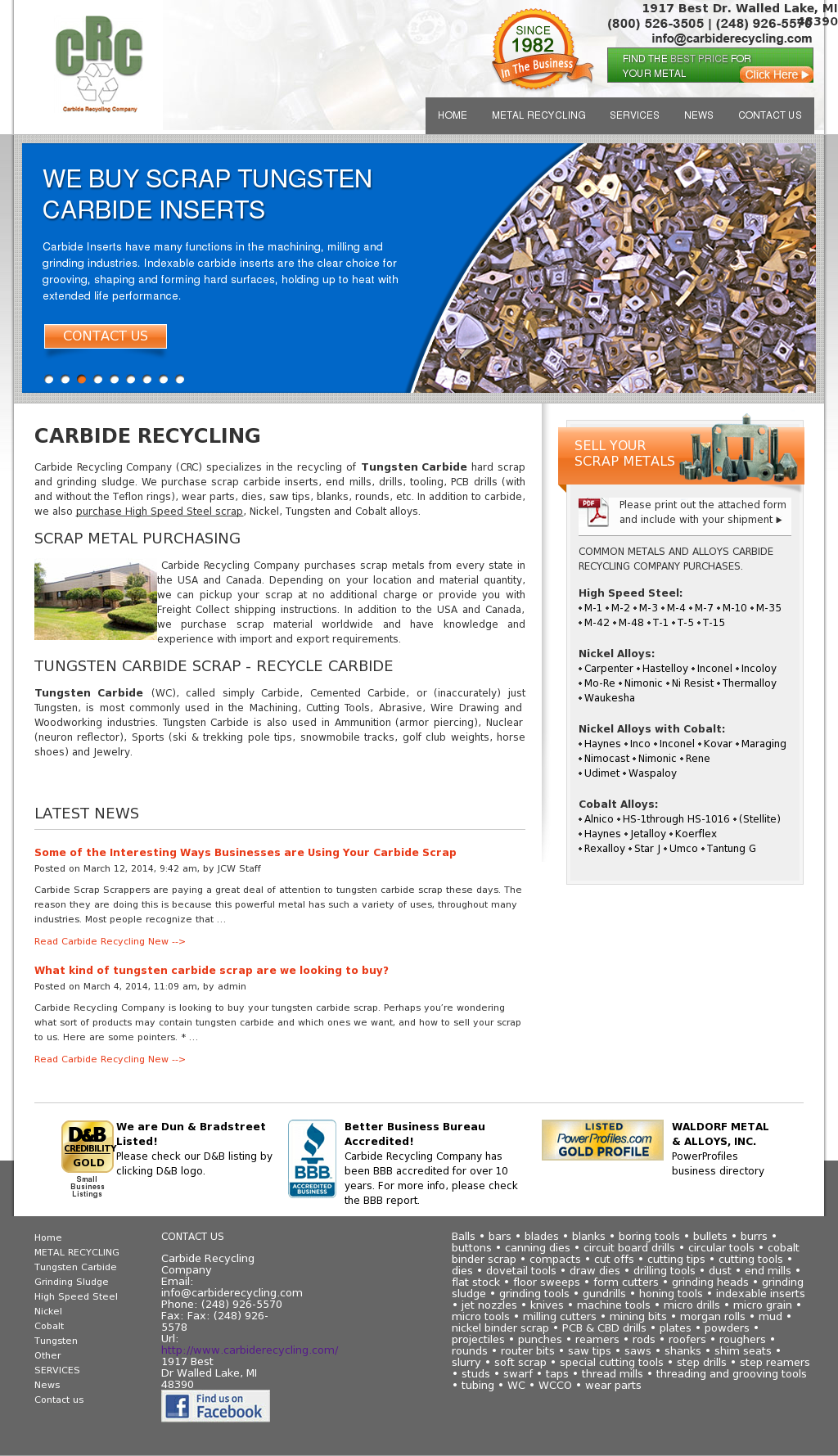 Carbide Recycling Company Competitors, Revenue and Employees - Owler