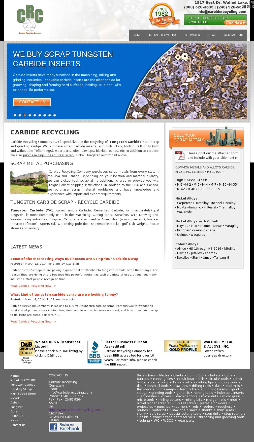 Tungsten Carbide Recycling Near Me