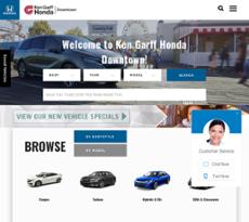 Ken Garff Honda Downtown Website History