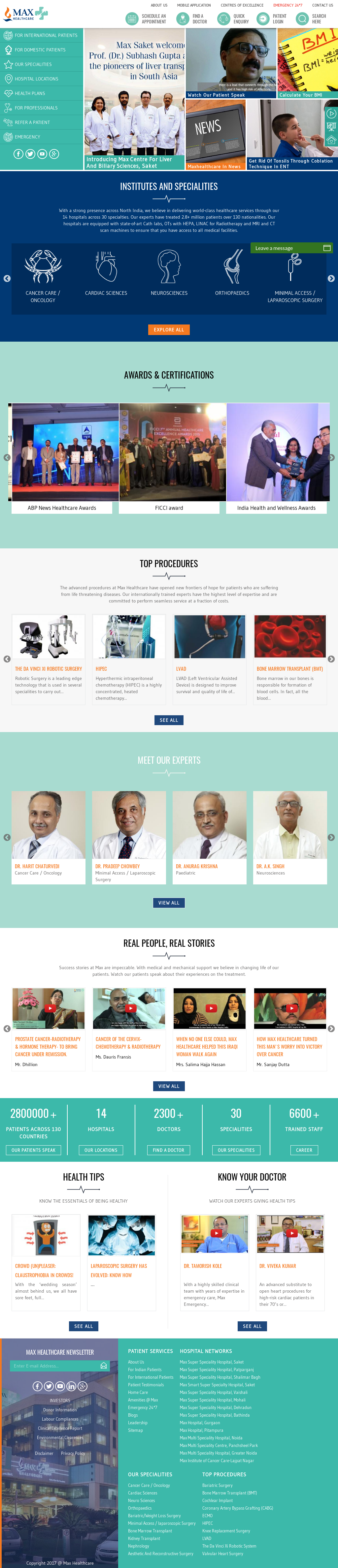 Max Healthcare Competitors, Revenue and Employees - Owler