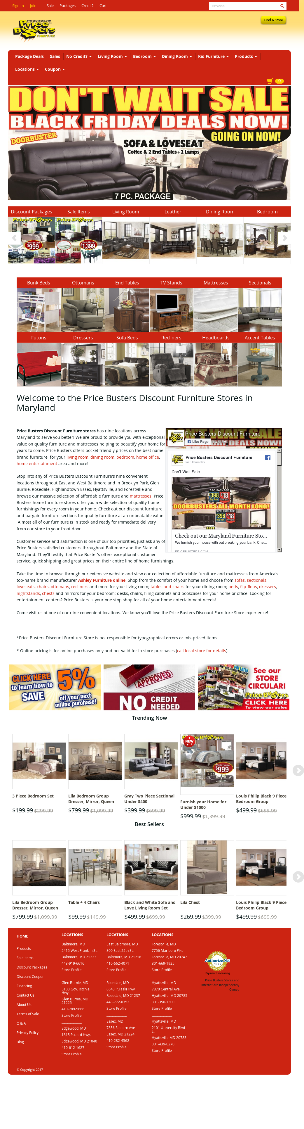 Price Busters Furniture Stores In Maryland Competitors Revenue And