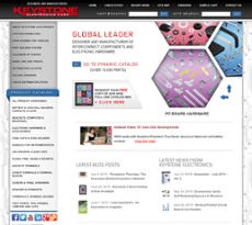 Keystone Electronics website history