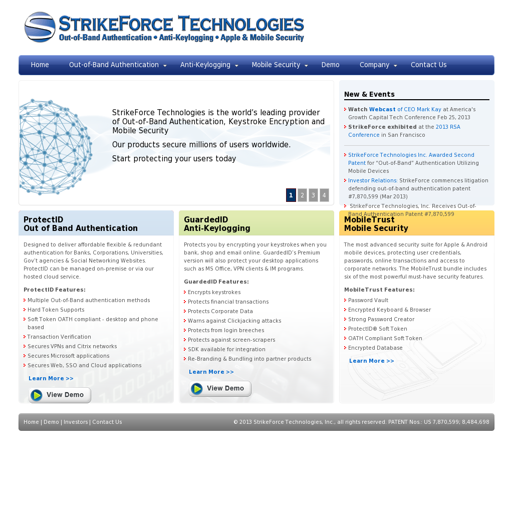 Strikeforce Technologies S Competitors Revenue Number Of Employees Funding Acquisitions News Owler Company Profile