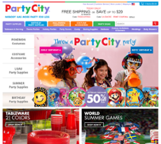 Party City website history