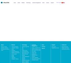 Multek website history
