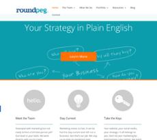 Roundpeg website history