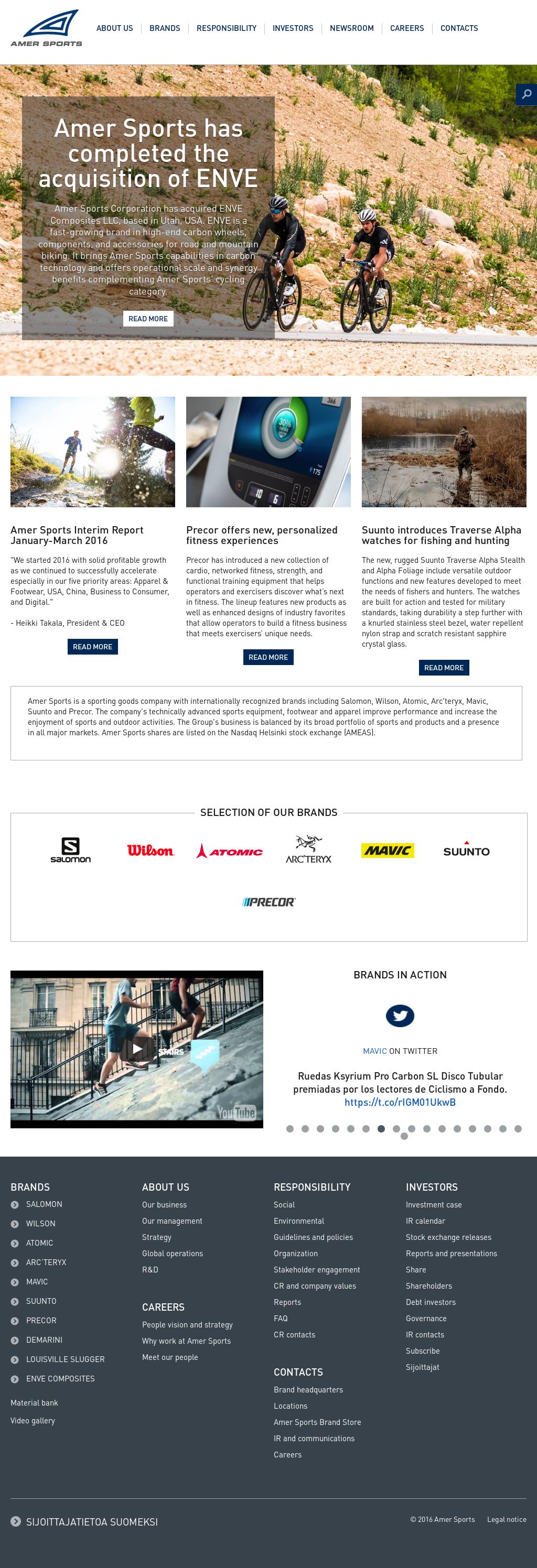 new style e1a9d dc76e Amer Sports Competitors, Revenue and Employees - Owler Company Profile