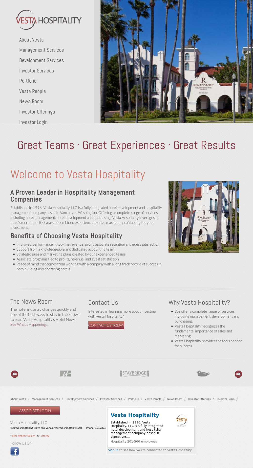 Vestahospitality Competitors, Revenue and Employees - Owler Company