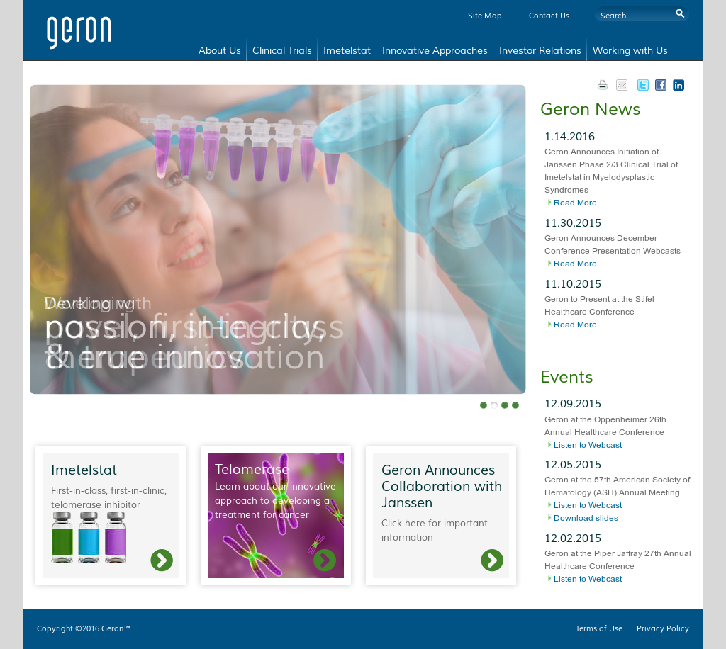 Geron Competitors, Revenue and Employees - Owler Company Profile
