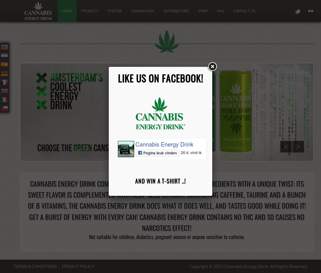 Cannabis Energy Drink Website History
