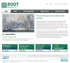 Root Realty website history