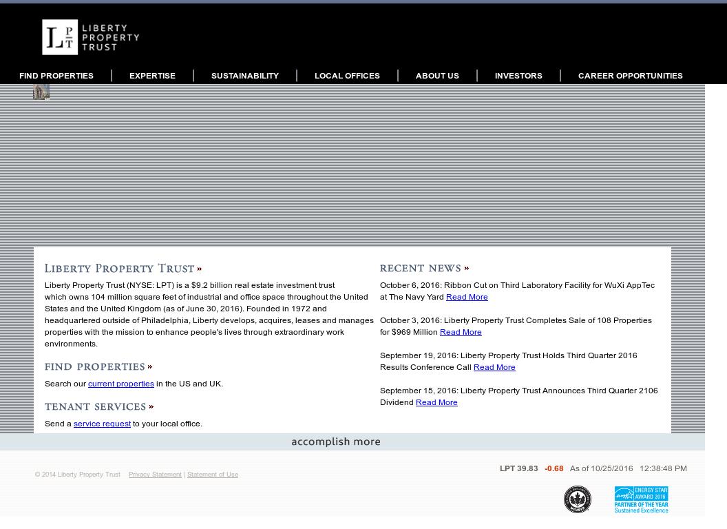 Owler Reports - Press Release: Liberty Property Trust : Liberty