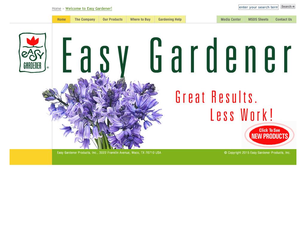 Easy Gardener Website History