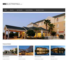 Bre Select Hotels Website History