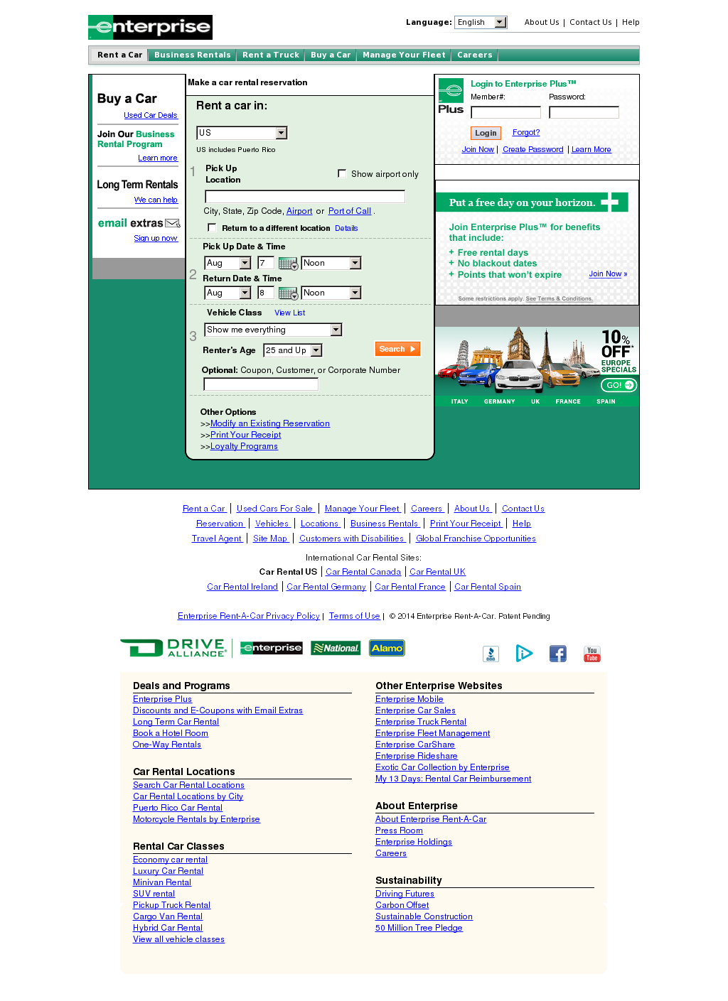 enterprise coupon customer or corporate number