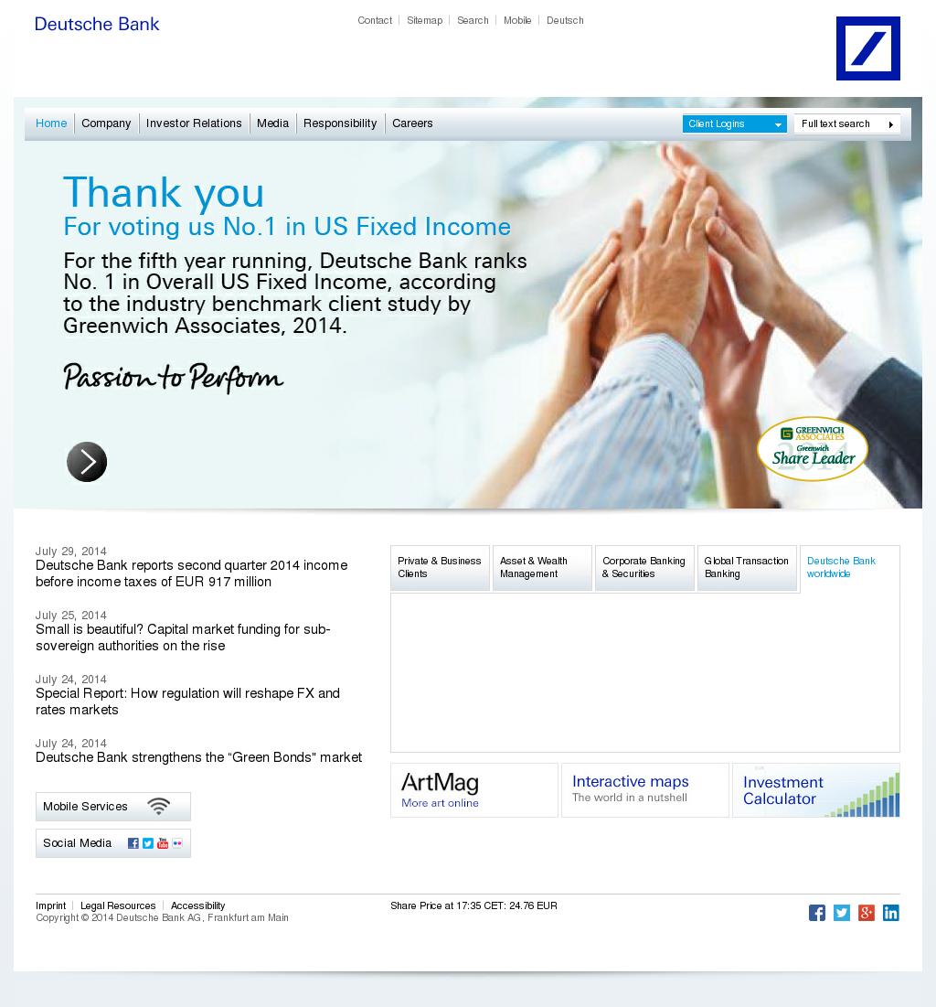 Deutsche Kreditbank Dkb Corporate Website: Deutsche Bank Competitors, Revenue And Employees