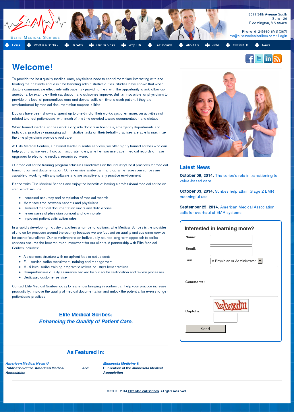 Elite Medical Scribes Competitors Revenue And Employees Owler
