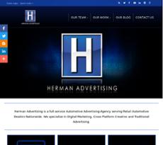 Herman Advertising website history