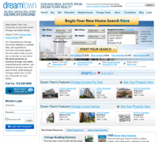 Dream Town Realty website history