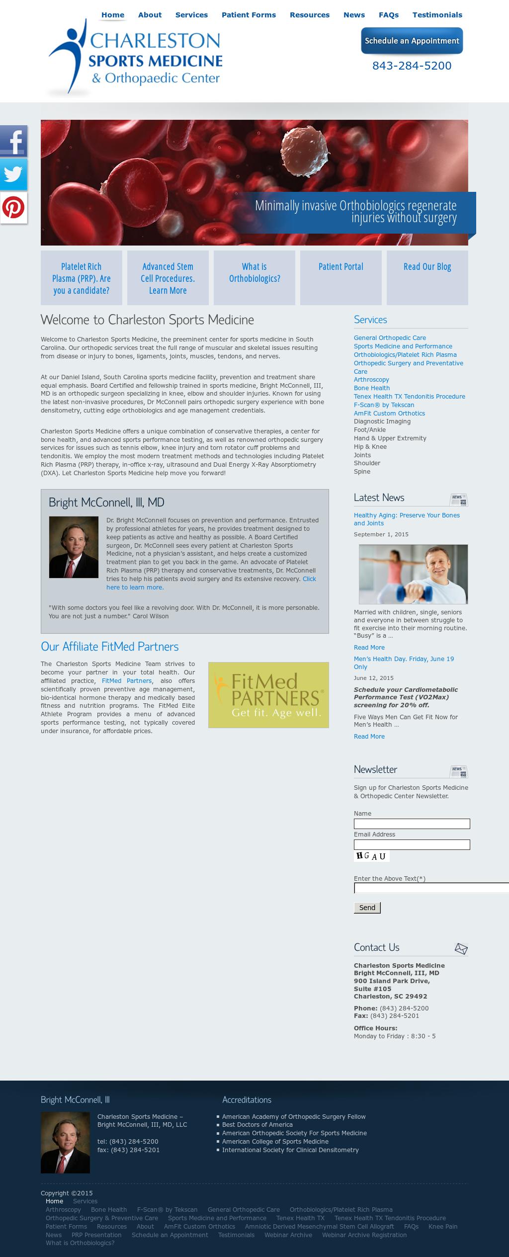 Charleston Sports Medicine Competitors, Revenue and Employees