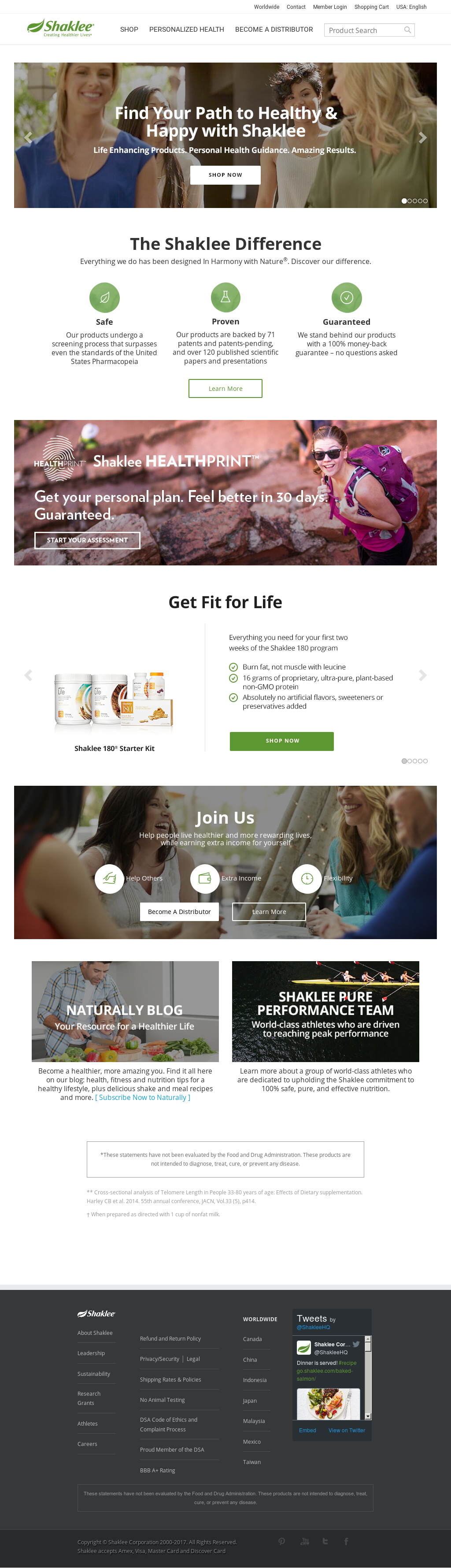 Shaklee Competitors Revenue And Employees Owler Company Profile