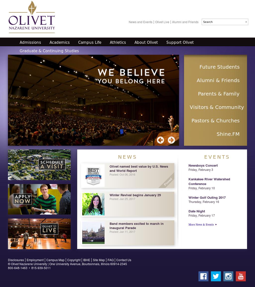 Olivet Campus Map.Olivet Nazarene University Competitors Revenue And Employees