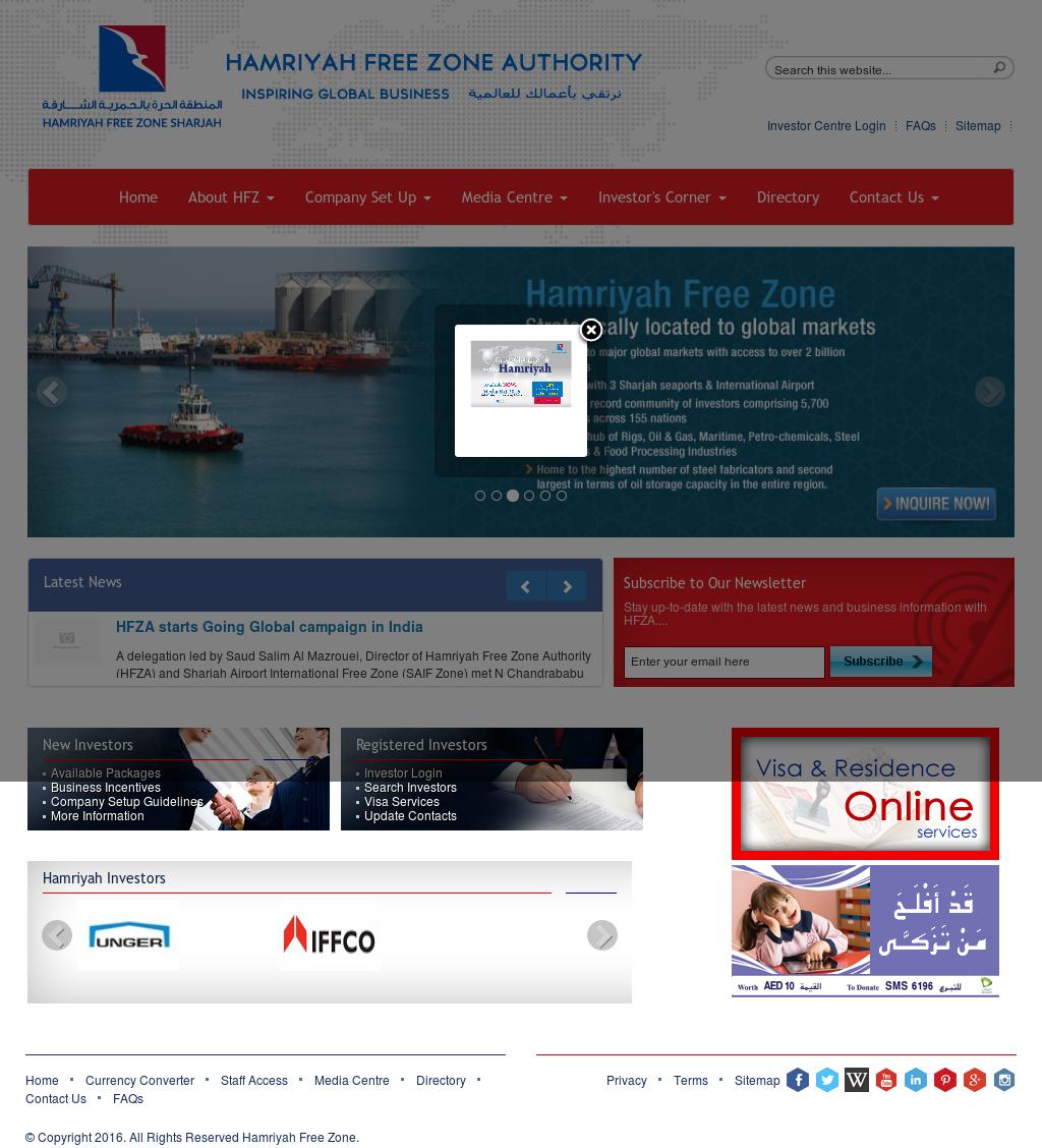 Owler Reports - Press Release: HFZA : Hamriyah Free Zone