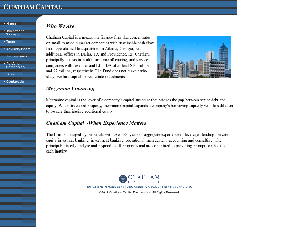 Chatham Capital Competitors, Revenue and Employees - Owler Company