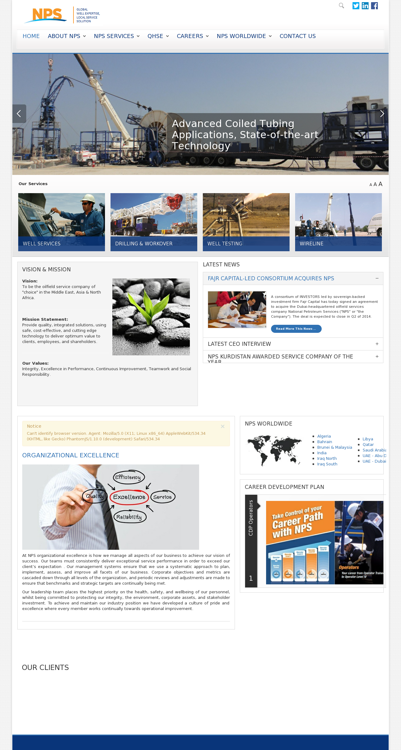 Owler Reports - NPS: National Petroleum Services KSCP : Napesco