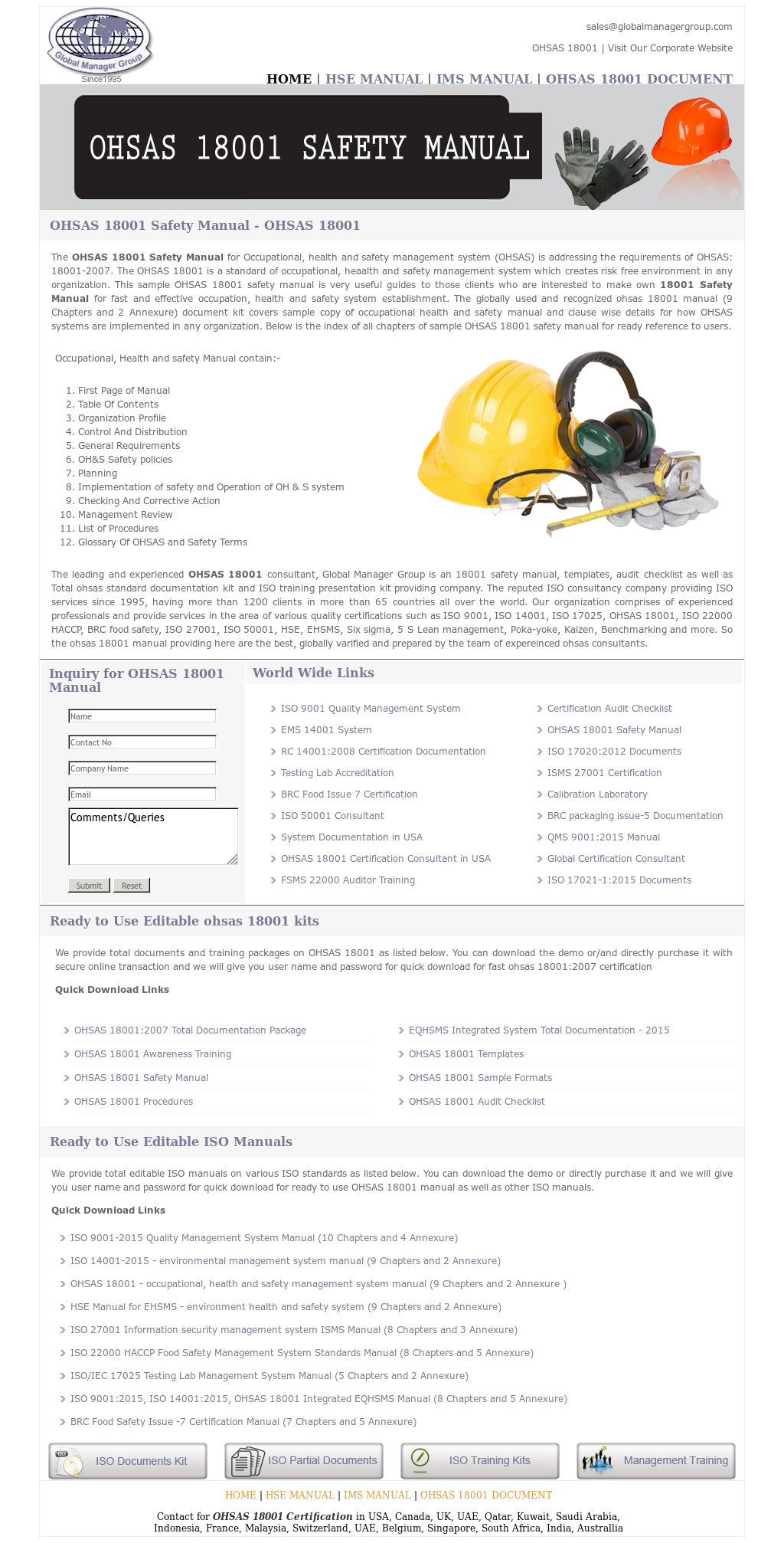 ... Array - ohsas 18001 safety manual competitors revenue and employees  owler rh ...