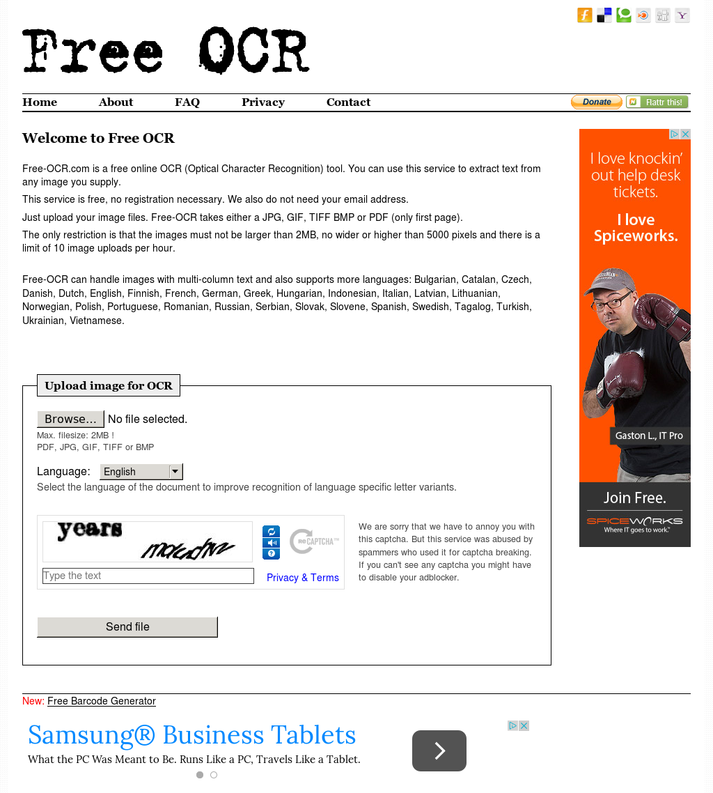 Free-OCR Competitors, Revenue and Employees - Owler Company