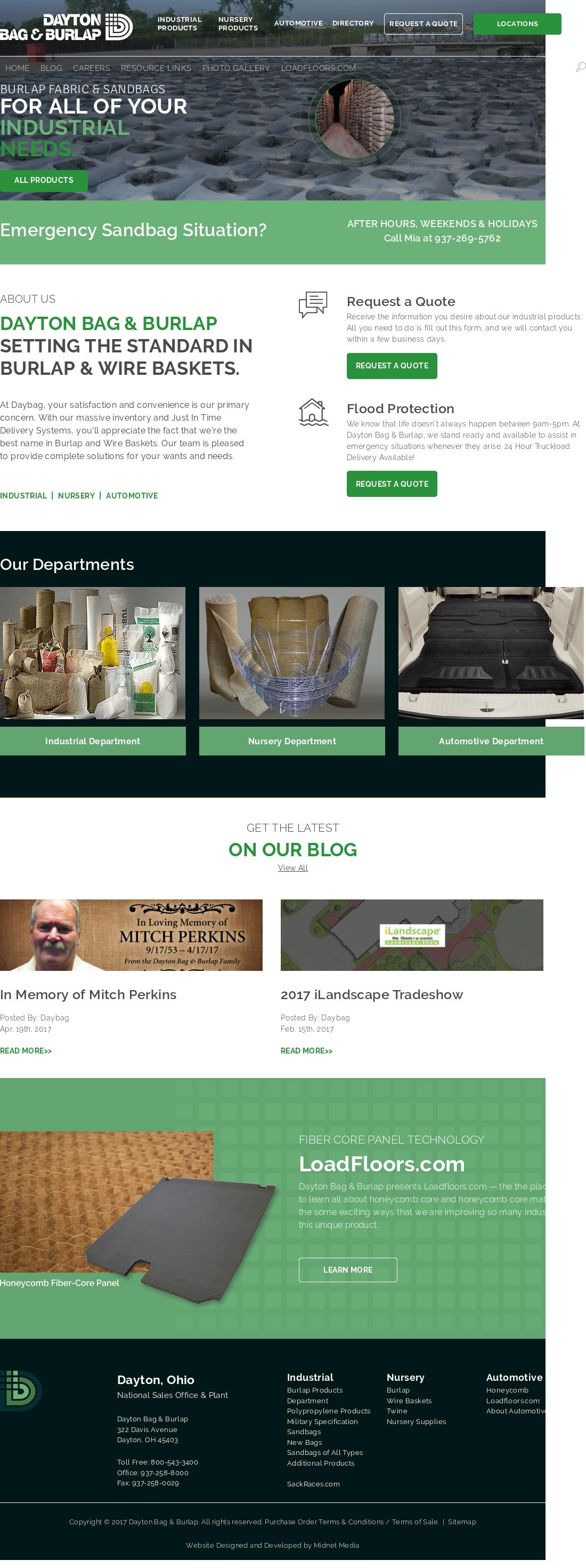 Owler Reports Dayton Bag Burlap