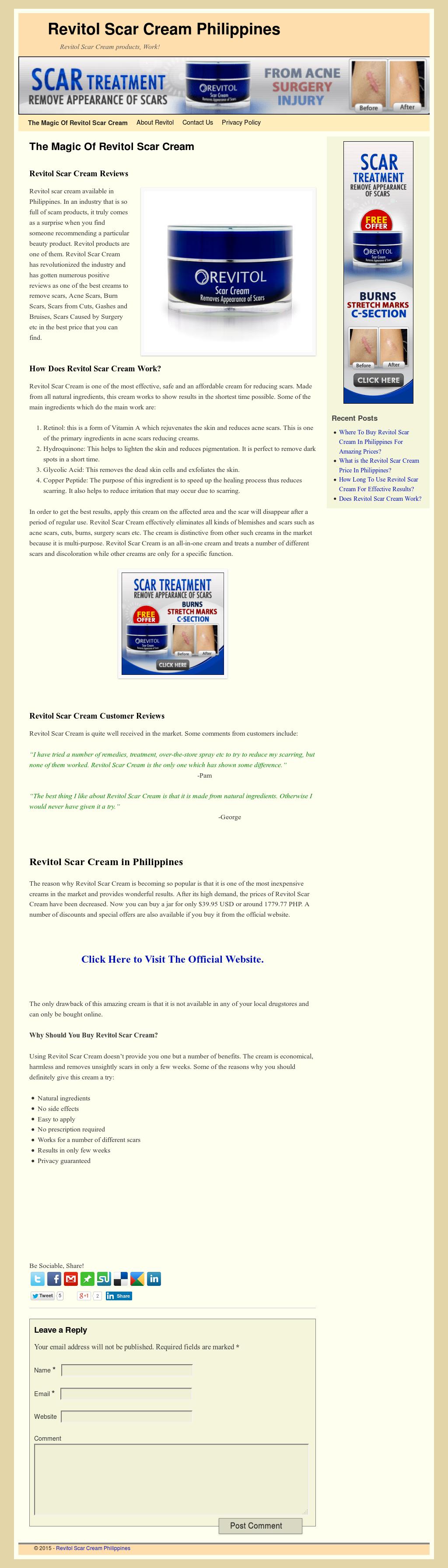 Revitol Scar Cream Philippines Competitors Revenue And Employees Owler Company Profile