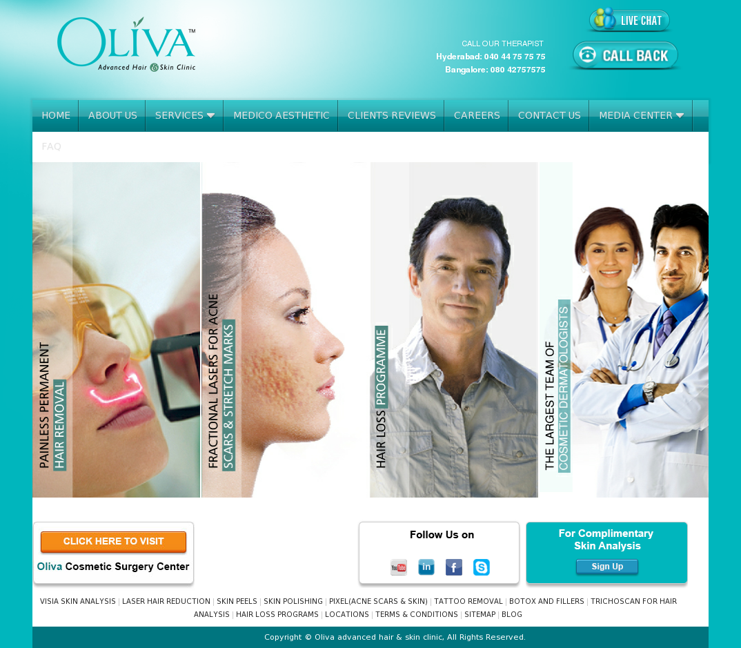 Oliva Skin and Hair Clinic Competitors, Revenue and