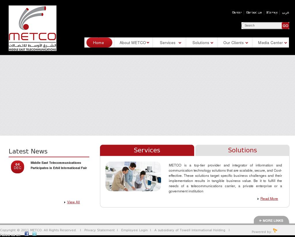 Owler Reports - Press Release: METCO : Kharafi Global Serves