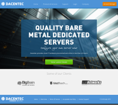 Dacentec website history
