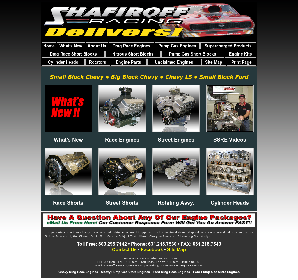 Scott Shafiroff Race Engines & Components Competitors, Revenue and