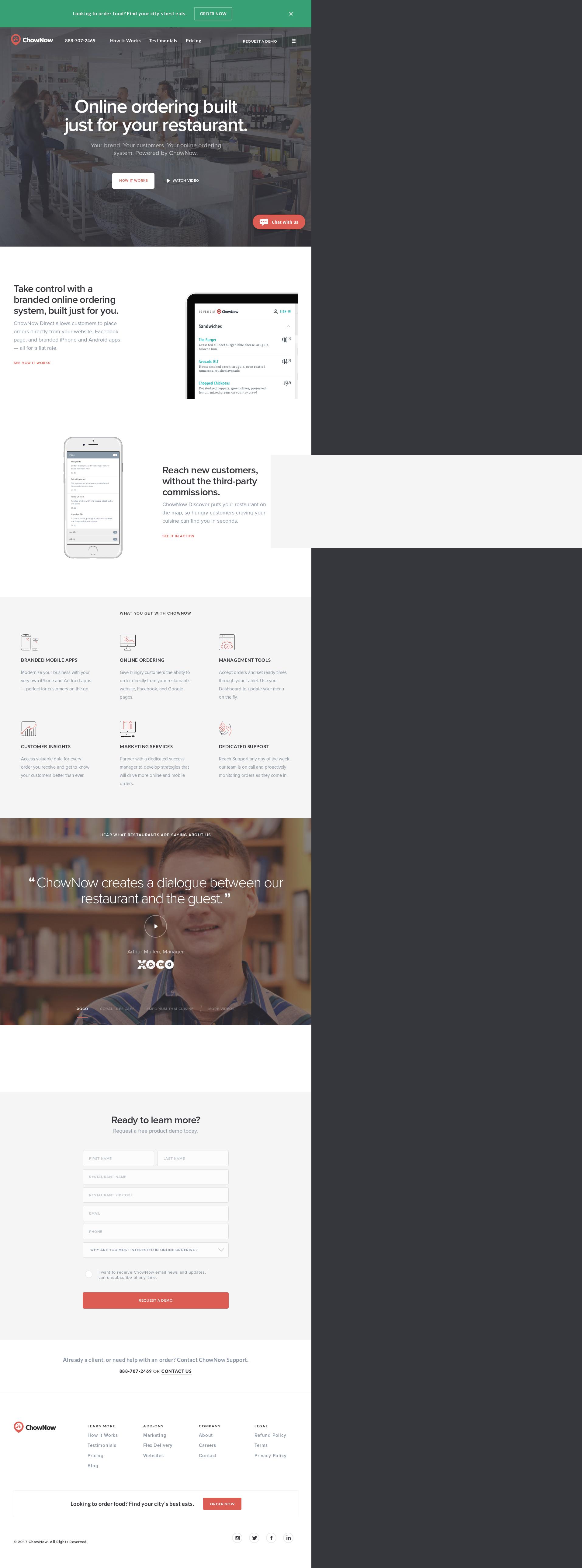 Chownow Web Design
