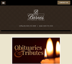 David Barnes Funeral Home Coffeyville Ks